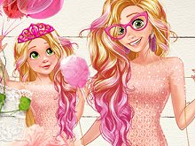 Princess Mom and Daughter Cute Family Look