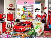 Race Car Bed Room Hidden Object