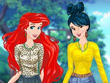 Ariel and Snow White Bffs
