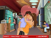 Kissing at the Shopping Mall