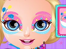 Baby Barbie Pony Face Painting
