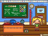 School Dress Up Doll Playset