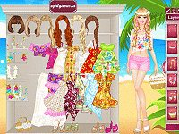 Barbie in Hawaii Dress Up