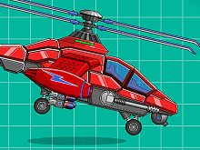 Assemble Robot War Helicopter