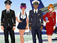 Pilots and Stewardesses Dress Up