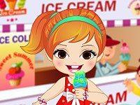 Baby Girl Loves Ice Cream