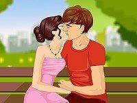 Park Bench Kissing