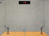 Stick Figure Badminton