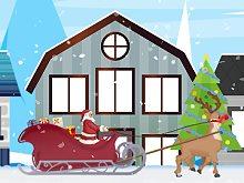 Santa And Rudolph Sleigh Ride