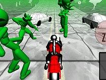 Stickman Zombie: Motorcycle