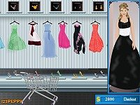 Shop N Dress Make Up Matching Game: Flower Gown