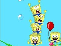 لعبة سبونج بوب والبالونات