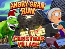 Angry Gran Run Xmas Village webgl